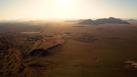 Flying over the desert in Namibia in a hot air balloon GIF