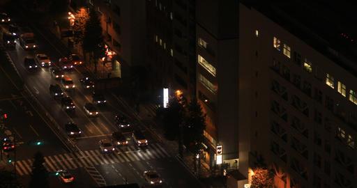 A night urban cityscape in Shinagawa Tokyo high angle Archivo