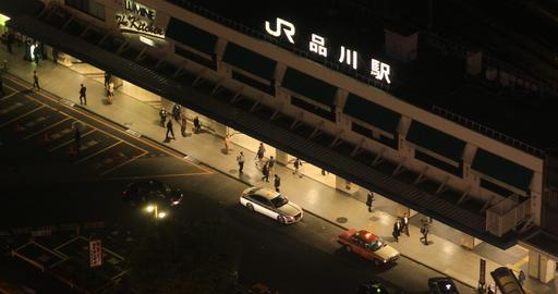 A night urban cityscape in Shinagawa Tokyo high angle Live Action