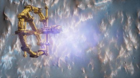 space ship near the Mars planet ビデオ