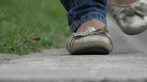Girl Walking to Camera Footage