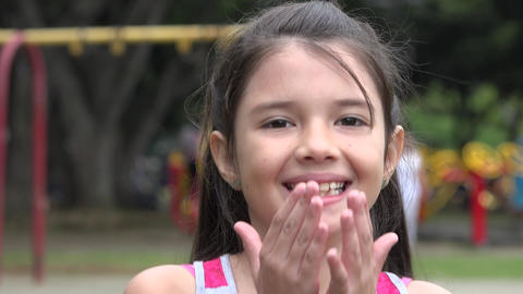 Happy Young Female Child Stock Video Footage