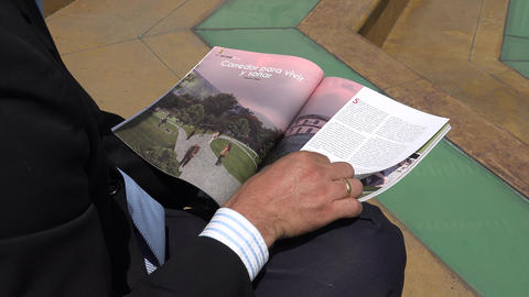 Man Reading a Magazine Footage