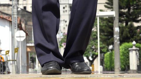 Man's Feet Dancing Salsa Footage