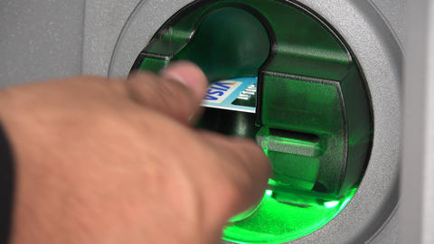 Credit Card Slot of ATM Footage