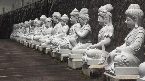 4K 仏さま整列/Standing in line of Buddha Live Action