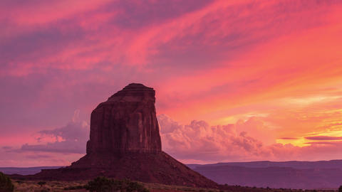 Time Lapse - Beautiful Sunset of Monument Valley Footage