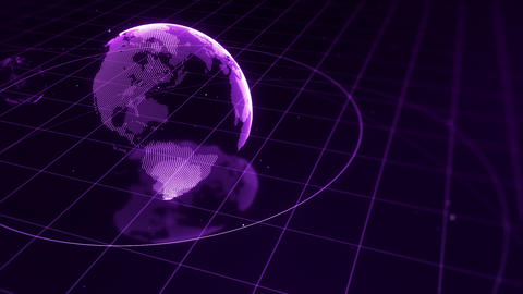 SHA Earth Image BG Violet, Stock Animation