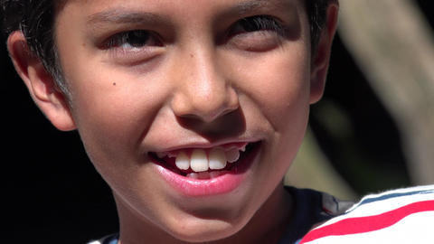 Smiling Young Hispanic Boy Live Action