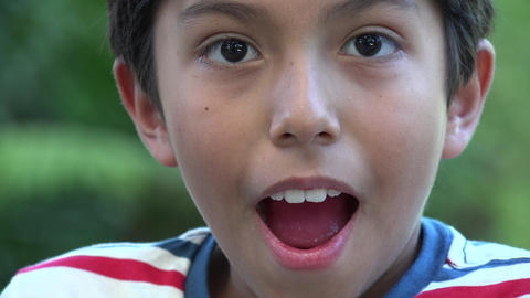 Surprised Young Hispanic Boy Live Action