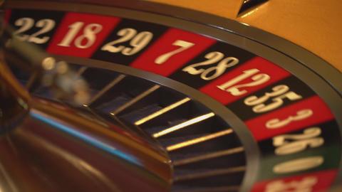Roulette wheel - close up shot - 17 black wins Live Action