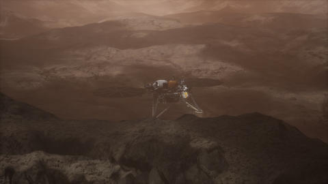 Insight Mars exploring the surface of red planet ビデオ