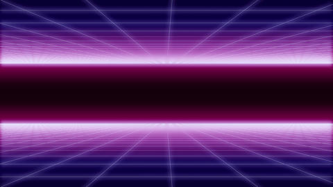 synthwave net and 2 sides horizontal Background 3d ビデオ