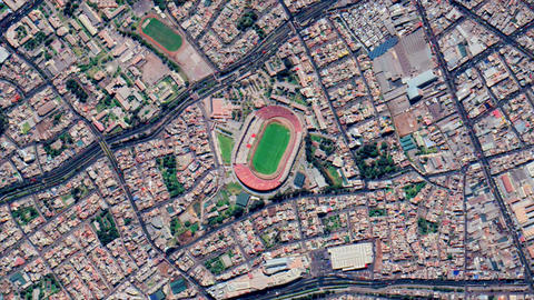 Earth Zoom from Estadio Monumental Virgen de Chapi - Arequipa - Peru ビデオ