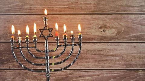 Star of David Hanukkah menorah Live Action
