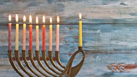 Jewish holiday symbol Hanukkah, the Jewish Festival of Lights Live Action