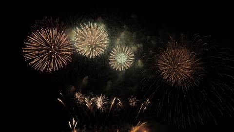 Fireworks celebration christmas and new year ライブ動画