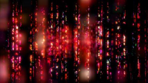 Colorful Digital Walls of Running Information Videos animados