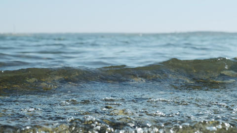 Clear water in the sea, the concept of rest relax, summer vacation. Natural sea GIF