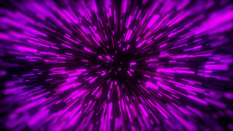 3d rendering movement through stars. Hyper jump into another galaxy. Speed of Live Action