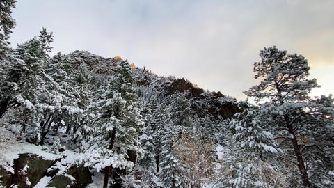 Fresh snow covers the landscape near Boulder Colorado Footage