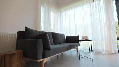 Home interior walk through living room warehouse conversion empty space modern Live Action