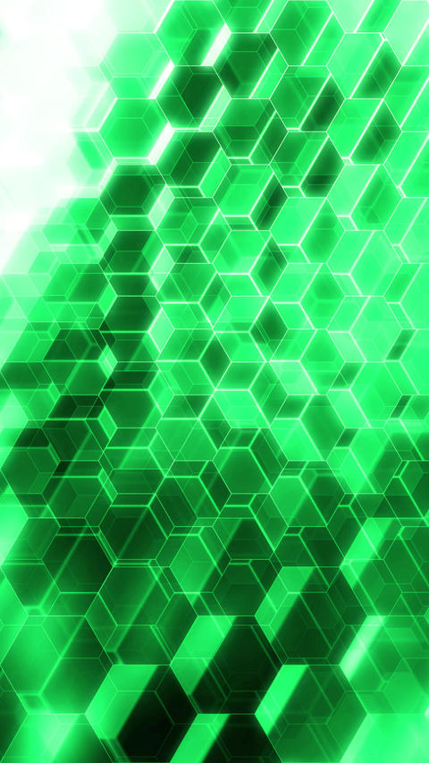 Colorful Winking Hexagons - Vertical 10 Animation