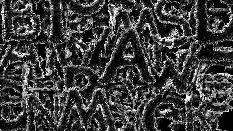 Wall from Black Liquids Letters 2 Animation