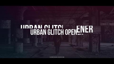 Urban Glitch Opener After Effectsテンプレート