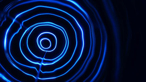 Abstract energy tunnel in space. Energy force fields tunnel in outer space Live Action
