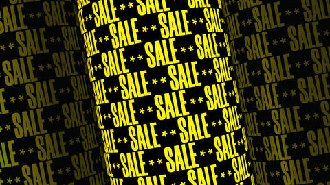 SALE Text Background With Yellow Letters Animation