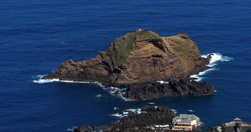 Waves in Atlantic Ocean, Porto Moniz, Madeira Island Portugal, Real Time 4K Footage