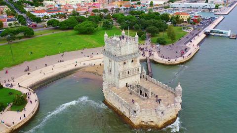 Famous landmarks of Portugal - Belem Tower Live Action
