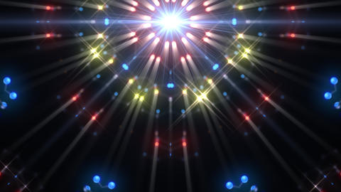 Kaleidoscope illumination neon Dh3 blue3 4k Videos animados