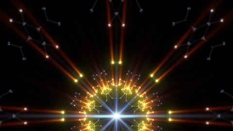Kaleidoscope illumination neon Av3 blue2 4k Videos animados