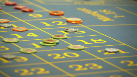 Roulette table in a casino - making bets Footage