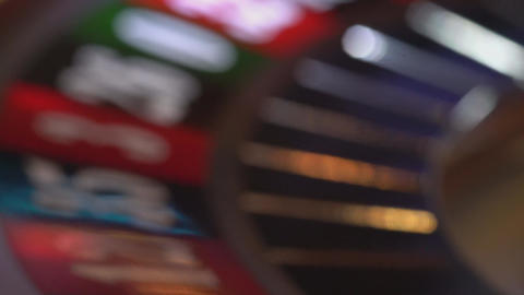 Roulette - blurry background Stock Video Footage