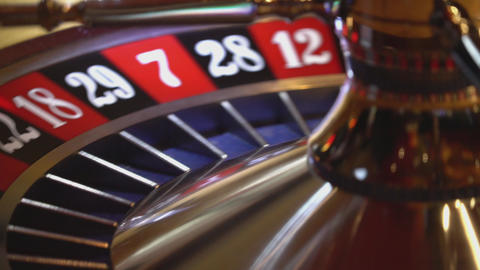 Roulette wheel - close up shot - spinning ball Live Action