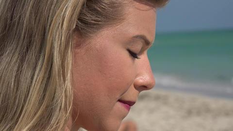 Sad Woman at Beach Live Action
