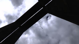Vitinya Bridge, Bulgaria – July 17, 2016: Bungee jumpers 390 feet bridge jump Footage