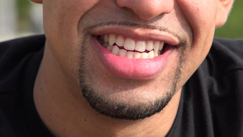 Smiling Hispanic Adult Male Footage