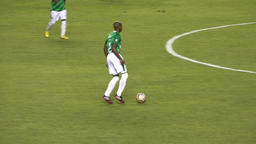 Soccer Players Passing Ball Live Action