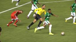 Colombian Soccer Player Kicks Ball Footage
