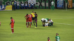 Physically Injured Soccer Player Live Action