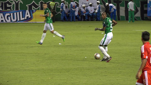 Soccer Players Passing Ball Footage