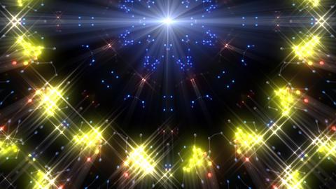 Kaleidoscope illumination neon Ch3 blue3 4k Videos animados