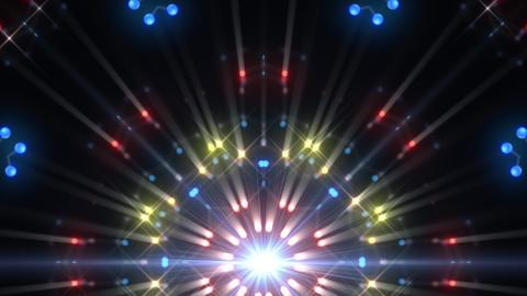 Kaleidoscope illumination neon Dh3 blue2 4k Animation