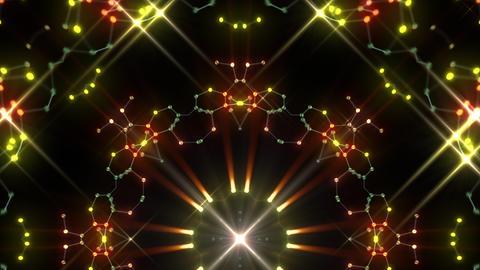 Kaleidoscope illumination neon Ah3 green2 4k Videos animados