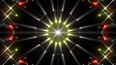 Kaleidoscope illumination neon Dh3 green1 4k Animation