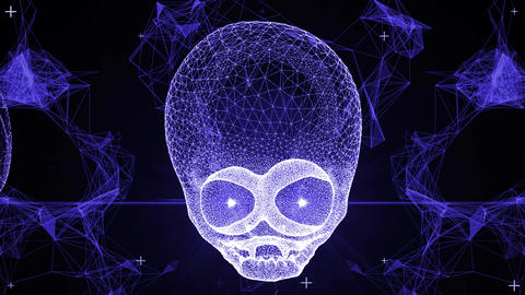 Techno Alien Skull VJ-Loop 2 Animation